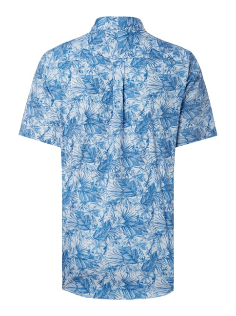 Fynch-Hatton Casual Fit Freizeithemd mit Allover-Muster Blau - 1
