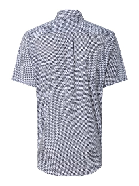Fynch-Hatton Casual Fit Freizeithemd mit Allover-Muster Dunkelblau - 1
