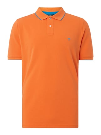 Casual Fit Poloshirt aus Baumwoll-Piqué Orange - 1