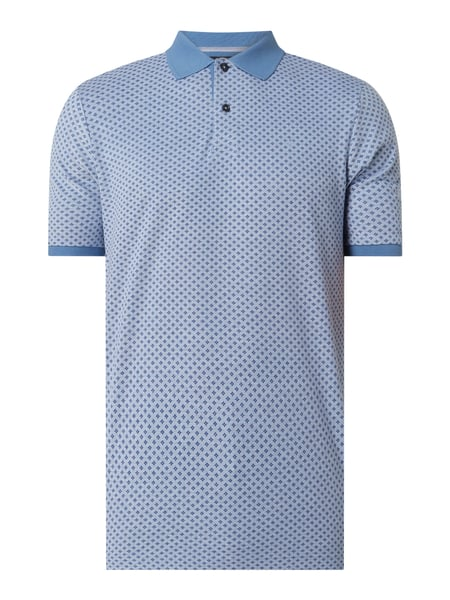 Fynch-Hatton Casual Fit Poloshirt aus Piqué Blau - 1