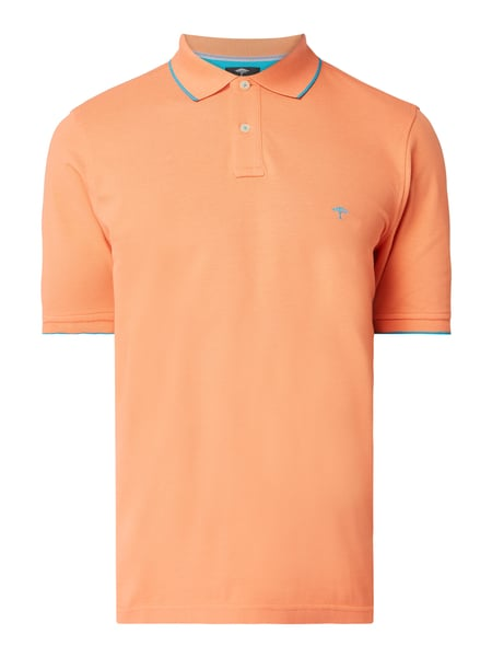 Fynch-Hatton Casual Fit Poloshirt mit Logo-Stickerei Orange - 1