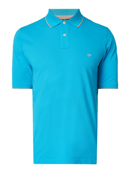 Fynch-Hatton Casual Fit Poloshirt mit Logo-Stickerei Türkis - 1