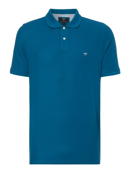 Fynch-Hatton Casual Fit Poloshirt mit Logo-Stickerei Blau / Türkis - 1
