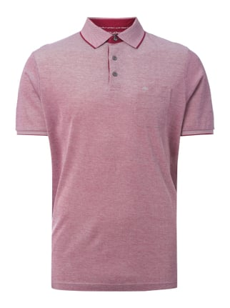 Casual Fit Poloshirt mit Webstruktur Rot - 1
