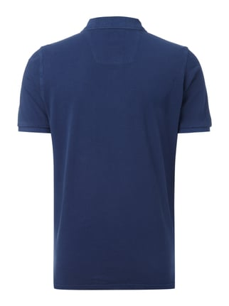 Fynch-Hatton Poloshirt im Washed Out Look Dunkelblau - 1