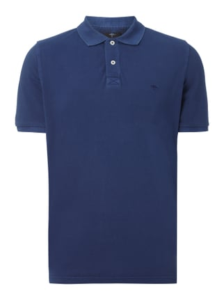 Poloshirt im Washed Out Look Blau / Türkis - 1