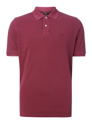 Poloshirt im Washed Out Look Rosé - 1