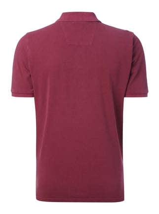Fynch-Hatton Poloshirt im Washed Out Look Fuchsia - 1