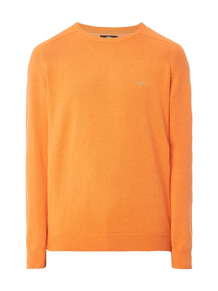 Fynch-Hatton Pullover mit Logo-Stickerei Apricot