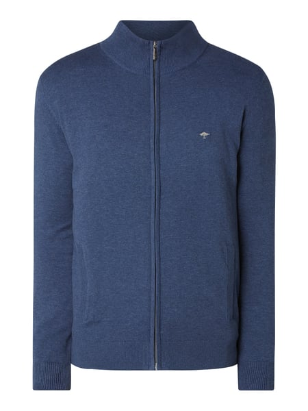 Fynch-Hatton Strickjacke mit Logo-Stickerei Blau - 1