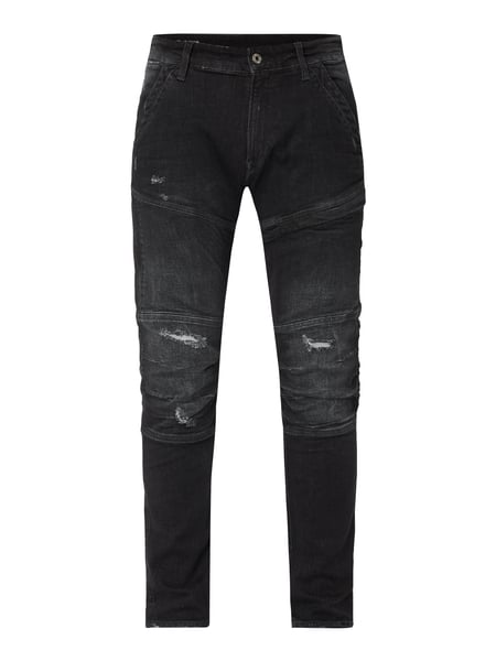 G-Star Raw 3D Skinny Fit Jeans mit Destroyed-Effekten Schwarz - 1