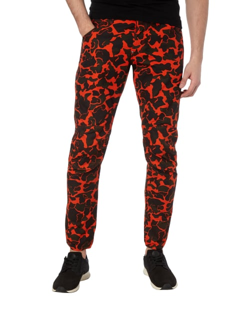 G-Star Raw 3D Tapered Fit Hose mit Camouflage-Muster Neon Orange - 1