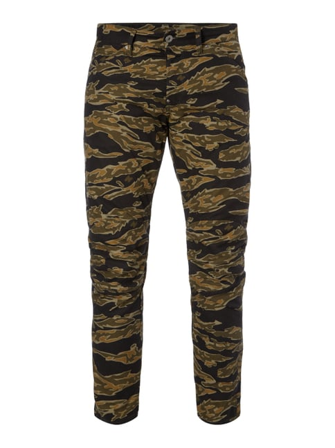 3D Tapered Fit Hose mit Camouflage-Muster Grün - 1