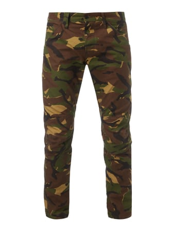 3D Tapered Fit Hose mit Camouflage-Muster Weiß - 1