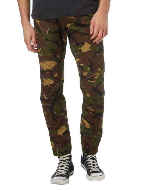 G-Star Raw 3D Tapered Fit Hose mit Camouflage-Muster Schlamm - 1