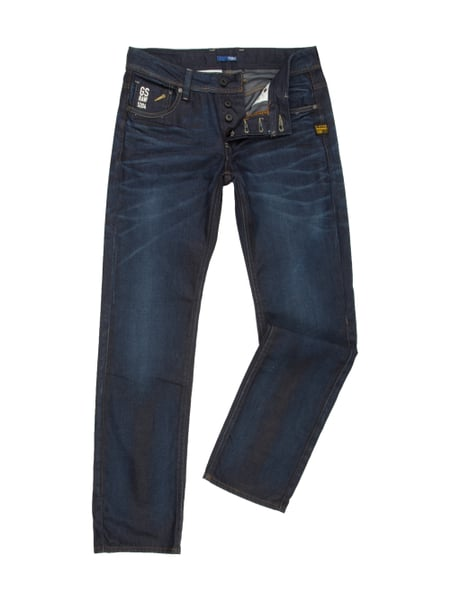 g star raw attacc low straight straight cut jeans in blau. Black Bedroom Furniture Sets. Home Design Ideas