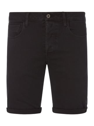 Coloured Jeansbermudas Grau / Schwarz - 1