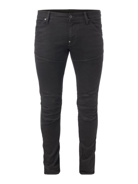 Coloured Super Slim Fit Jeans Grau / Schwarz - 1