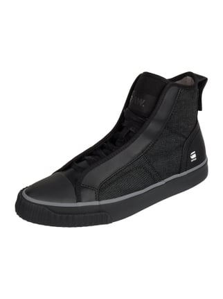 High Top Sneaker aus Canvas in Denimoptik Grau / Schwarz - 1
