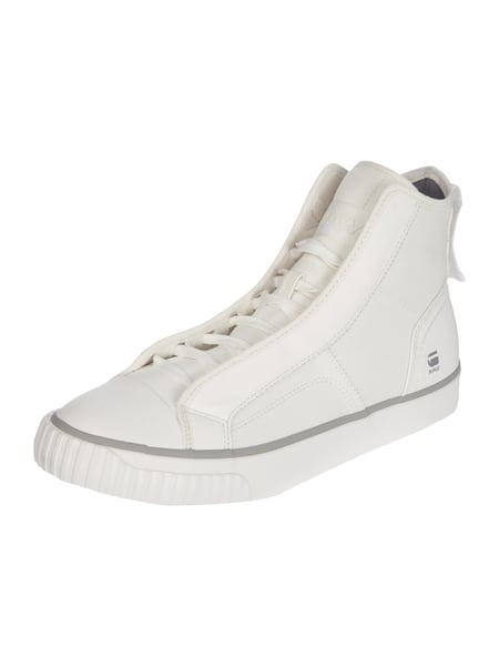 High Top Sneaker aus Canvas Weiß - 1