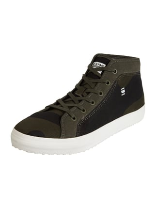 High Top Sneaker aus Canvas Grün - 1