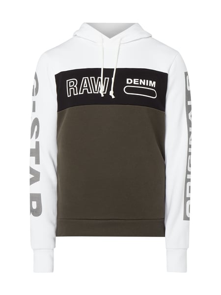 G-Star Raw Hoodie aus cotton-recycled Polyester Weiß - 1
