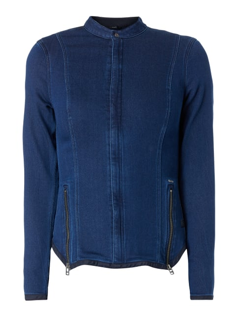 Jacke aus Sweat in Denimoptik Blau / Türkis - 1