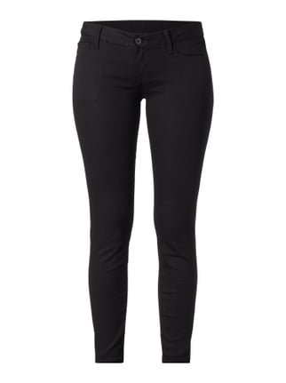 Low Rise Skinny Fit Hose im 5-Pocket-Design Grau / Schwarz - 1