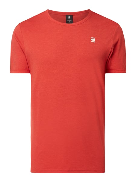 G-Star Raw Regular Fit T-Shirt mit Logo-Stickerei Rot - 1