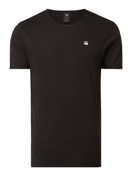 G-Star Raw Regular Fit T-Shirt mit Logo-Stickerei Schwarz - 1