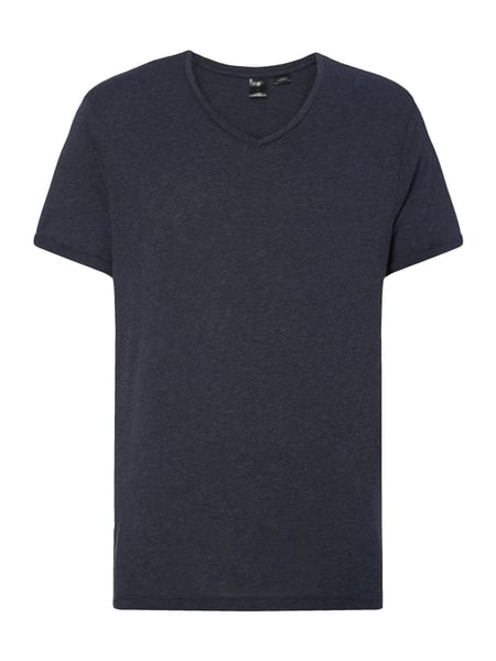 G-Star Raw Felor Regular Vt - Regular Fit T-Shirt mit V-Ausschnitt Marineblau meliert