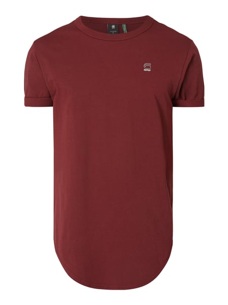 G Star Raw – Relaxed Fit T Shirt aus Organic Cotton – Bordeaux Rot