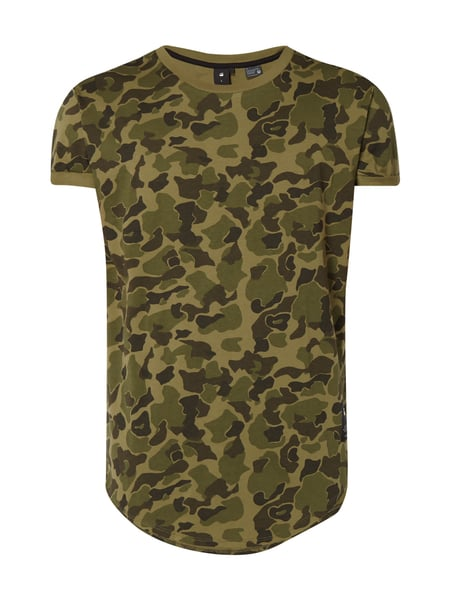 G-Star Raw Shelo Camo Relax - Relaxed Fit T-Shirt mit Camouflage-Muster Olivgrün