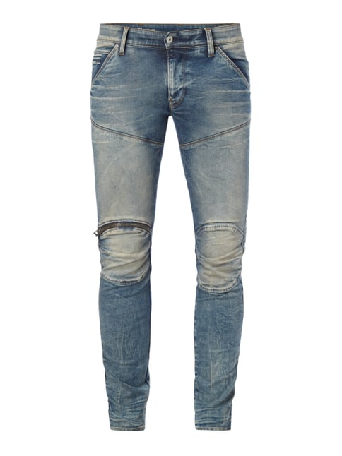 Sand Washed Super Slim Fit Jeans Blau / Türkis - 1