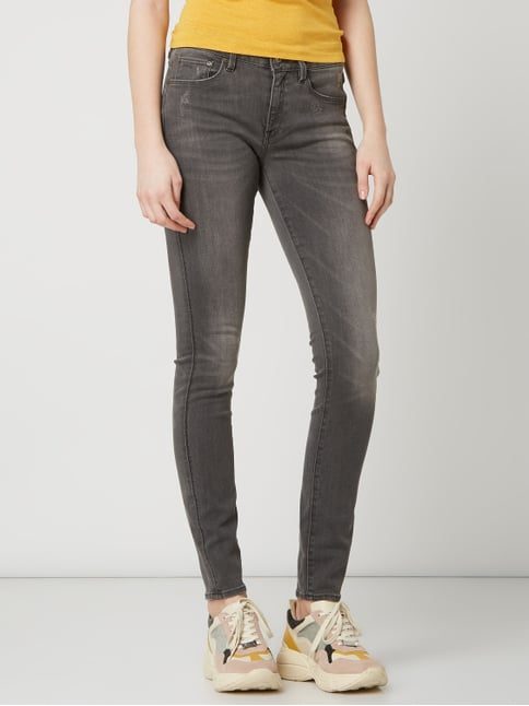 3301 Mid Skinny Wmn Skinny Fit Jeans mit Stretch Anteil Modell '3301'