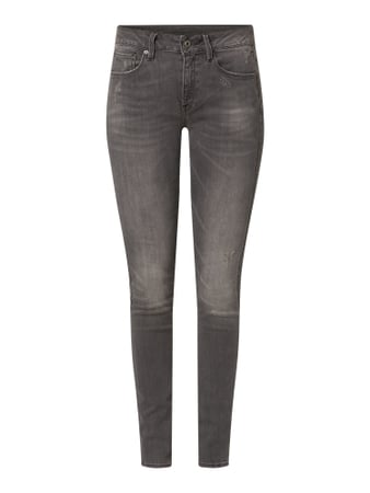G-Star Raw Skinny Fit Jeans mit Stretch-Anteil Modell '3301' Schwarz - 1