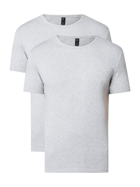 G-Star Raw Base R T S/s 2-p - Slim Fit T-Shirt im 2er-Pack Mittelgrau meliert