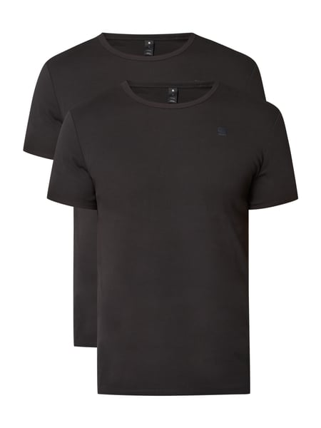 G-Star Raw Base R T S/s 2-p - Slim Fit T-Shirt im 2er-Pack Schwarz