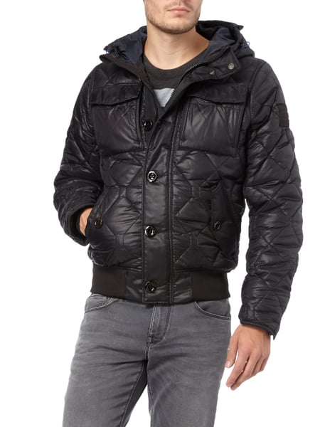 g star raw steppjacke mit kapuze in grau schwarz online kaufen 9548693 p c online shop. Black Bedroom Furniture Sets. Home Design Ideas