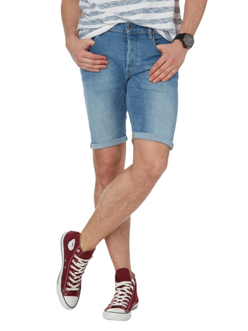 G-Star Raw Stone Washed Jeansshorts mit Knopfleiste Jeans - 1