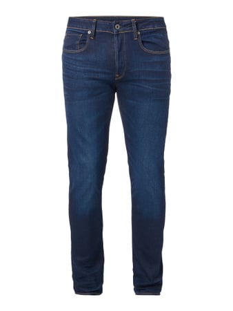Stone Washed Slim Fit 5-Pocket-Jeans Blau / Türkis - 1