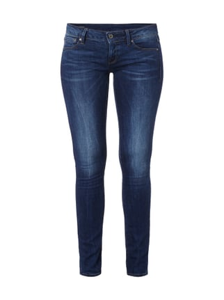 Stone Washed Super Skinny Fit Low Rise Jeans Blau / Türkis - 1