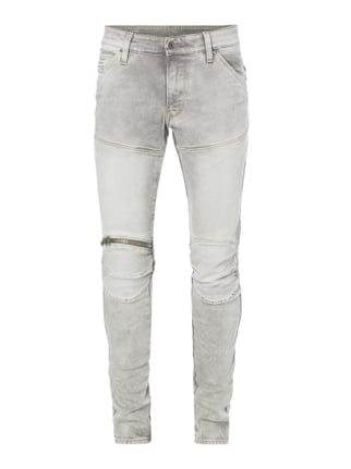 Stone Washed Super Slim Fit Jeans Grau / Schwarz - 1