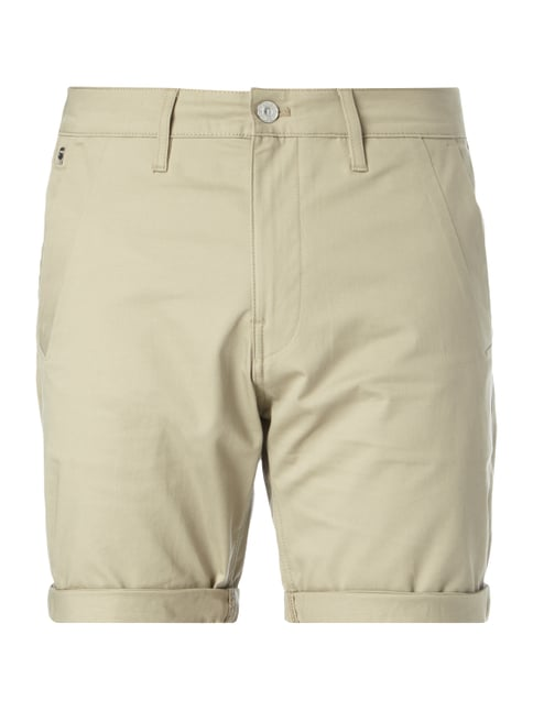 Straight Fit Bermudas mit Stretch-Anteil Weiß - 1