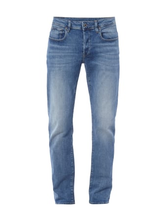 Straight Fit Jeans im Stone Washed-Look Blau / Türkis - 1