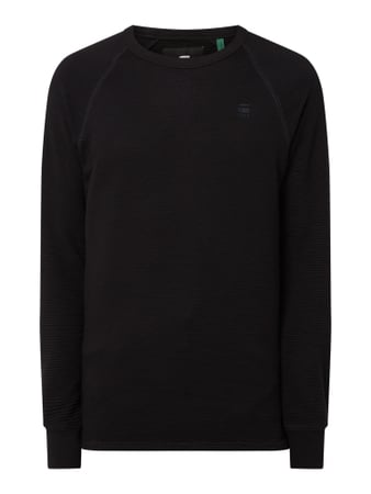 G-Star Raw Straight Fit Sweatshirt aus Bio-Baumwolle Schwarz - 1