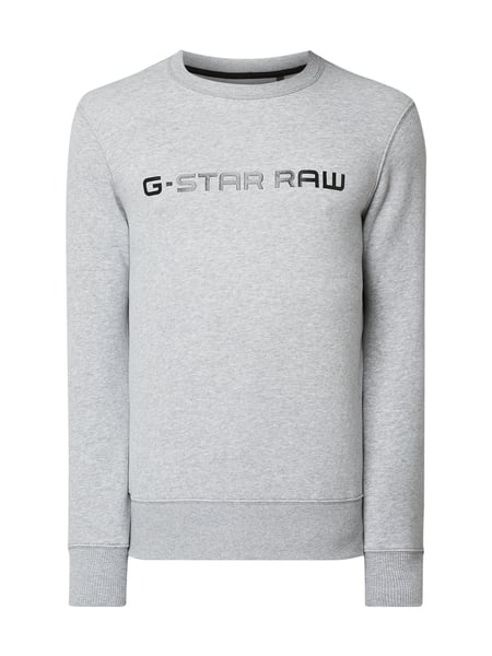 G-Star Raw Straight Fit Sweatshirt mit Logo-Print Grau - 1