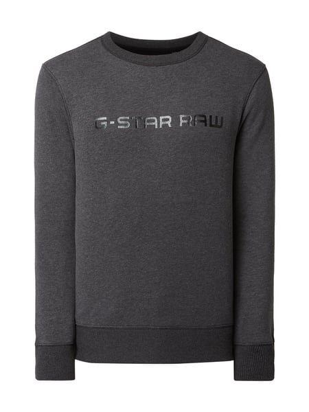 G-Star Raw Straight Fit Sweatshirt mit Logo-Print Grau / Schwarz - 1