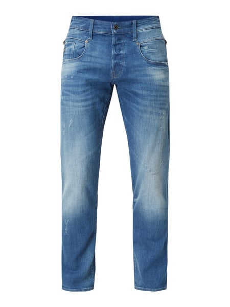 G-Star Raw Straight tapered fit jeans met used-effect Blauw - 1