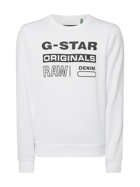 G-Star Raw Sweatshirt aus cotton-recycled Polyester Weiß - 1
